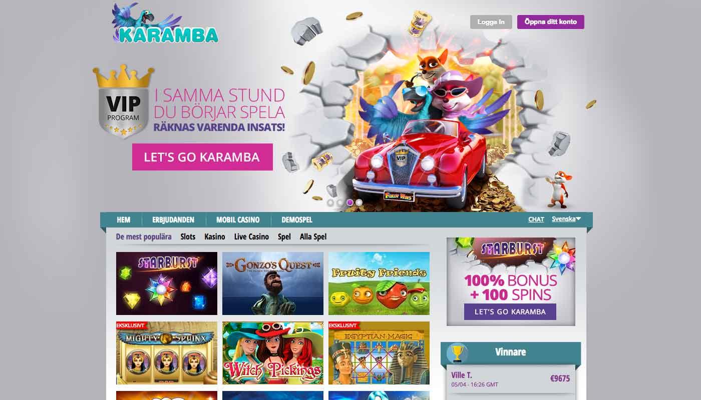 karamba.com – 100 free spin på online spelautomater och casino