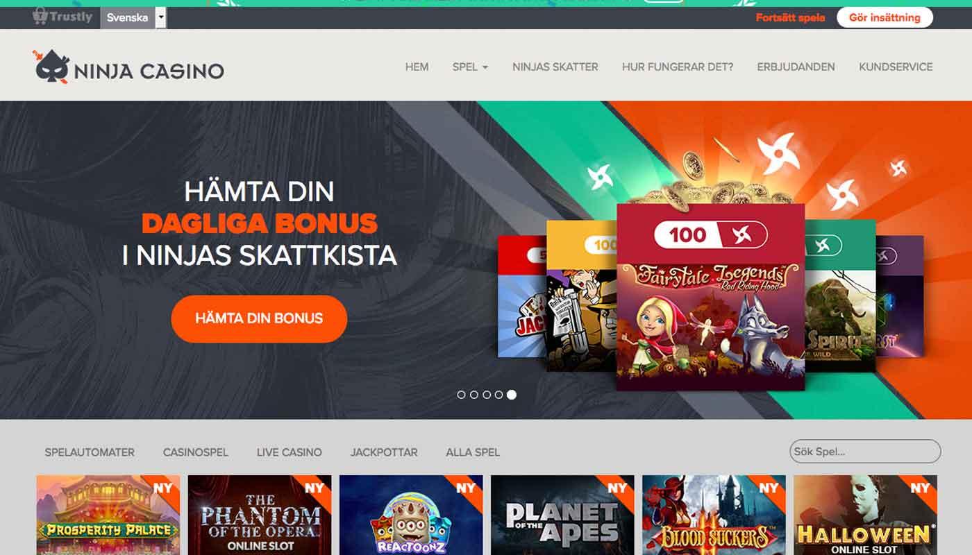 Ninja Casino screenshot