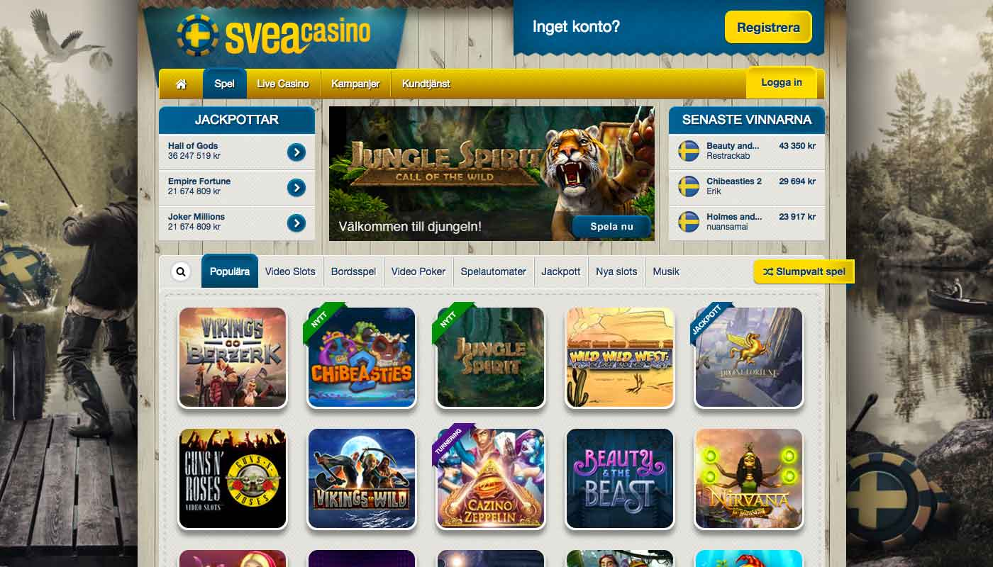 Sveacasino screenshot